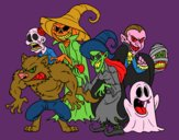 Coloring page Halloween Monsters painted byJayney