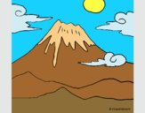 Coloring page Mount Fuji painted byAnia