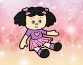 Coloring page Doll Toy painted byAnia