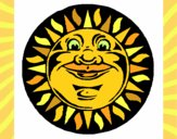 Coloring page Sun print painted byLeigh