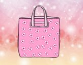 Coloring page Tote handbag painted byAnia