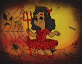 Coloring page Demon little girl costume painted bylilnae33