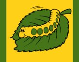 Coloring page Caterpillar eating painted byCherokeeGl