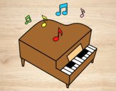 Coloring page Grand piano painted byAnia