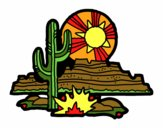 Coloring page Colorado Desert painted byKhaos