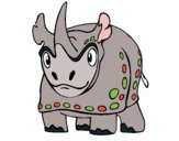Coloring page Rhinoceros 4 painted byKendall