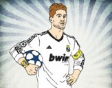 Coloring page Sergio Ramos of Real Madrid painted bykian