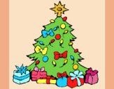 Coloring page Christmas tree painted byAnia