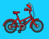 Coloring page Bicycle for children painted byAnia