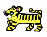 Coloring page Tiger Sign painted bymatthew