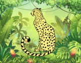 Coloring page Seated Cheetah painted byAnia
