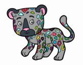 Coloring page Young Cheetah painted byrandol9572