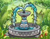 Coloring page Fountain painted byFranka