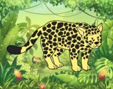 Coloring page The cheetah painted byAnia