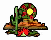 Coloring page Colorado Desert painted byKhaos006