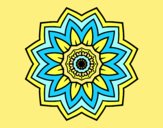 Coloring page Flower mandala of sunflower painted byAnia