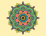Coloring page Mandala floral flash painted byAnia