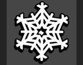 Coloring page Snowflake painted byAnia