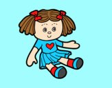 Coloring page Doll Toy painted bylorna