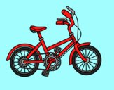 Coloring page Bicycle for children painted bylorna