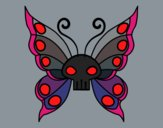 Coloring page Emo butterfly painted bytapulunala