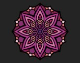 Coloring page Mandala simple symmetry  painted bytapulunala