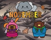 Coloring page November painted bySamantha
