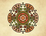Coloring page Mandala distant world painted byANIA2