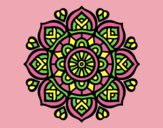 Coloring page Mandala for mental concentration painted byANIA2