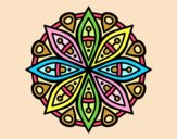Coloring page Mandala for the concentration painted byANIA2