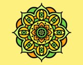 Coloring page Mandala open eyes painted byANIA2
