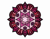 Coloring page Mandala vegetal life painted byleanna
