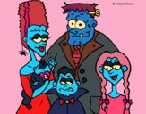 Coloring page Family of monsters painted byPiaaa