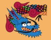 Coloring page Japanese dragon II painted byPiaaa