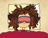 Coloring page Sleeping girl painted byPrincess13