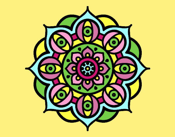Mandala open eyes