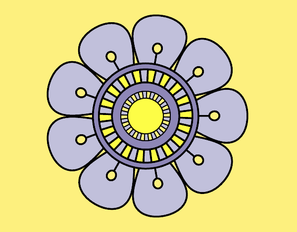 Mandala in flower shape