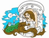 Coloring page Princess Rapunzel painted byBabyIce