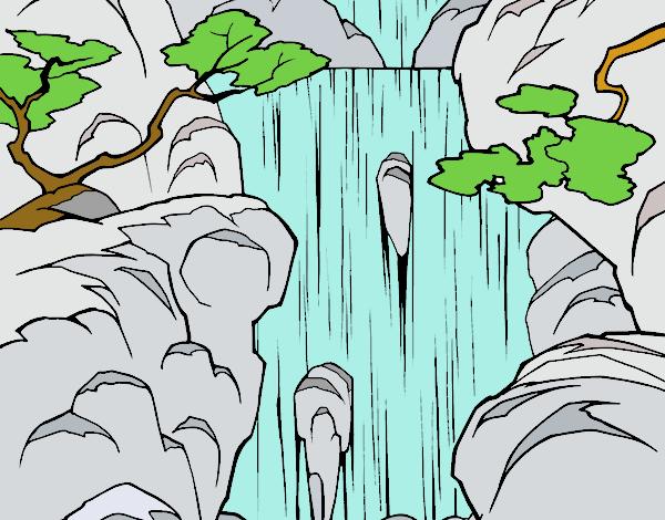 информации природа раскраска и фото деревья водопады тестом