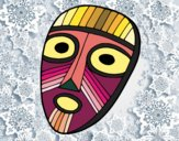 Coloring page Surprised mask painted bynayrb