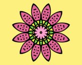 Coloring page Flower mandala with petals painted byLornaAnia