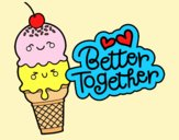 Coloring page Better together painted byLornaAnia