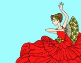Coloring page Flamenco woman painted byLornaAnia