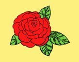 Coloring page Rose painted byLornaAnia