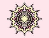 Coloring page Snow flower mandala painted byLornaAnia