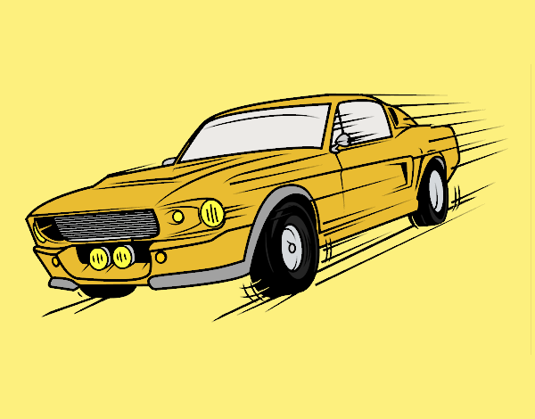 Mustang retro style