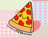 Coloring page You have a pizza my heart painted byBella0