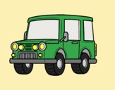 Coloring page Jeep all-terrain painted byLornaAnia