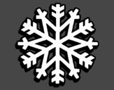 Coloring page Snowflake painted byLornaAnia