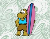 Surfer monkey